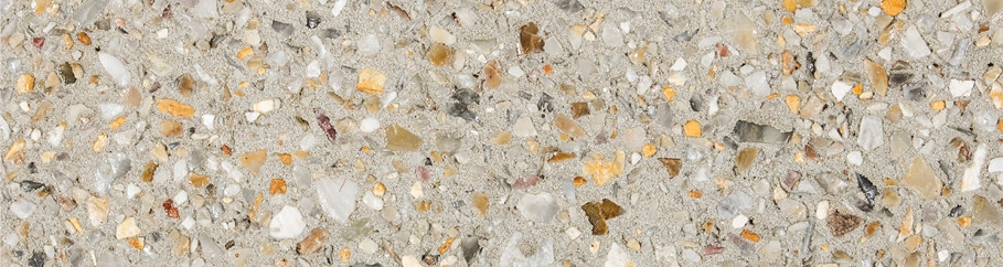 Swatch of Amber Grey exposed aggregate concrete