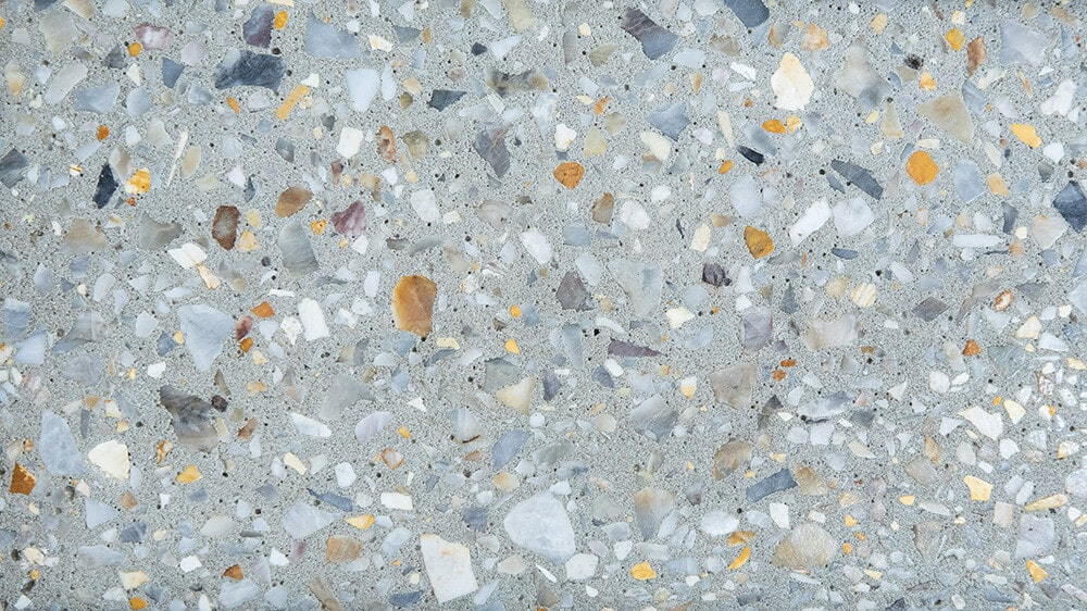 Swatch of Amber Grey honed concrete