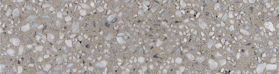 Swatch of Pewter exposed aggregate concrete
